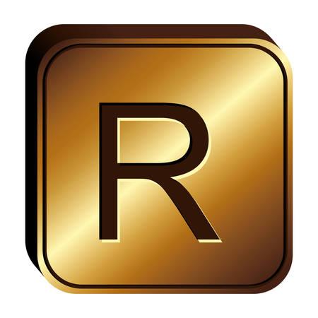 ganado: rand currency symbol icon image, vector illustration Vectores