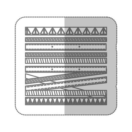 dangerous work: barrier tape ribbon icon image, vector illustration design