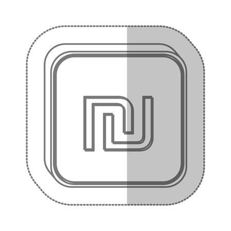 sheqel: sheqel israel currency symbol icon image, vector illustration