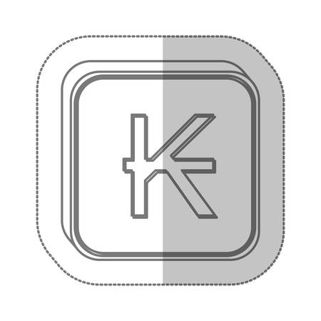 kips currency symbol icon image, vector illustration