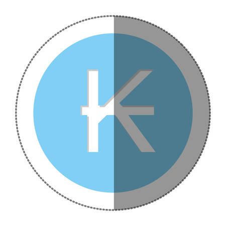 lira: kips currency symbol icon image, vector illustration