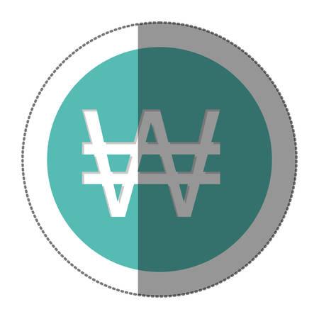 won: won currency symbol icon image, vector illustration