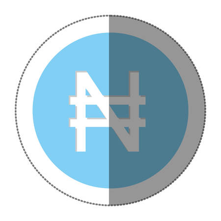 nairas currency symbol icon image, vector illustration Illustration