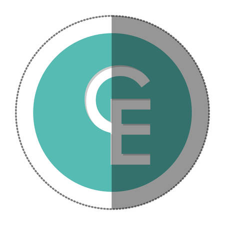 lira: ECU currency symbol icon image, vctor illustration