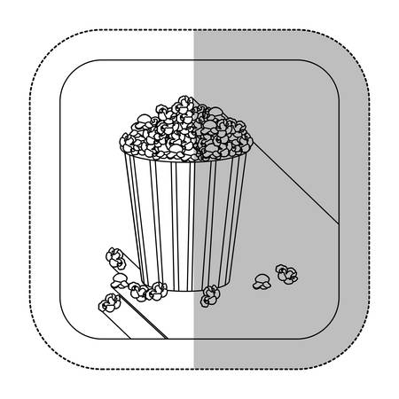 symbol popcorn icon image, vector illustration design