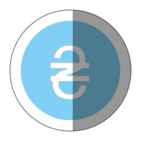 sheqel: hryvnia currency symbol icon image, vector illustration