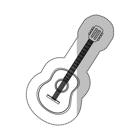 bass drum: symbol guitar icon design, vector illustration image