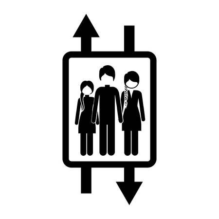 elevator with people inside icon image, vector illustration Illustration