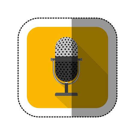 symbol microphone icon image, vector illustration design Illustration
