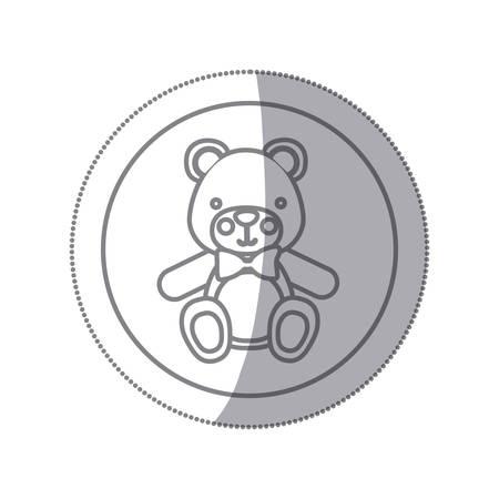 baby bear: teddy bear baby icon image design, vector illustration