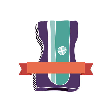 pencil sharpener study stock icon, vector illustration