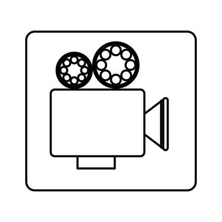 recorder short film icon image, vector illustration design Ilustração