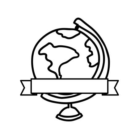 planet earth desk icon image, vector illustration