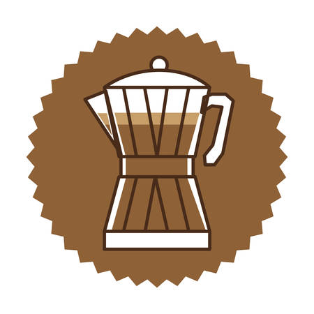 coffee moka pot icon image, vector illustration Illustration