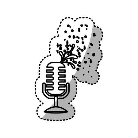 microphone icon stock image, vector illustration design Illustration