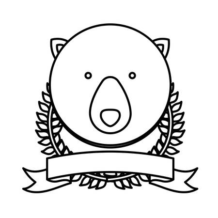 emblem bear hunter city icon, vector illustration image