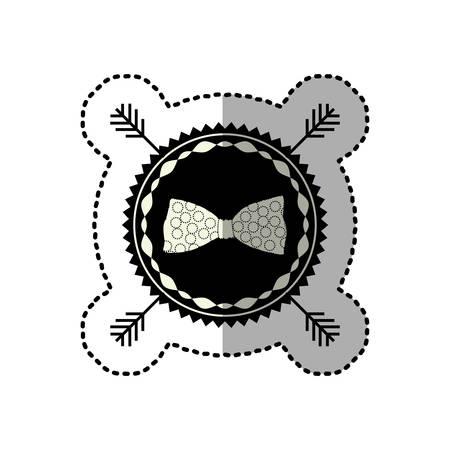 background next: symbol bow icon stock, vector illustration design Illustration