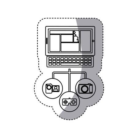 computer database server icon stock, vector illustration design