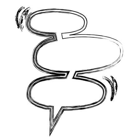 blurred silhouette set collection oval shape dialog box vector illustration Illustration