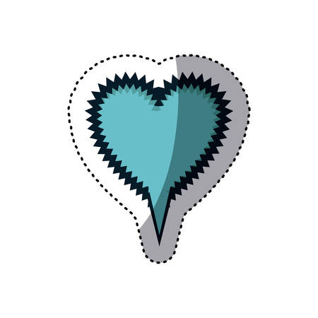 blue sticker heart shape callout scream for dialogue vector illustration Illustration