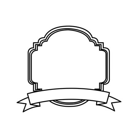 silhouette decorative heraldic frame design vector illustration vector illustration