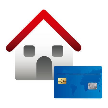 huis kopen voor familie pictogram, vector illustratie ontwerp