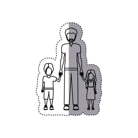 people man with her children icon, vector illustration design image
