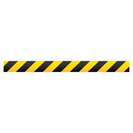 Farbe Silhouette mit Warnband Vektor-Illustration Standard-Bild - 72627477