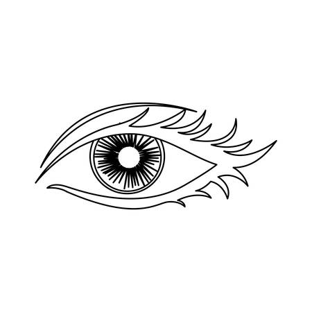 outline woman eye opened icon vector illustration
