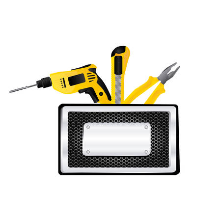 tools blank warnings icon, vector illustration image design
