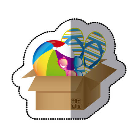 thing inside the box icon image, vector illustration