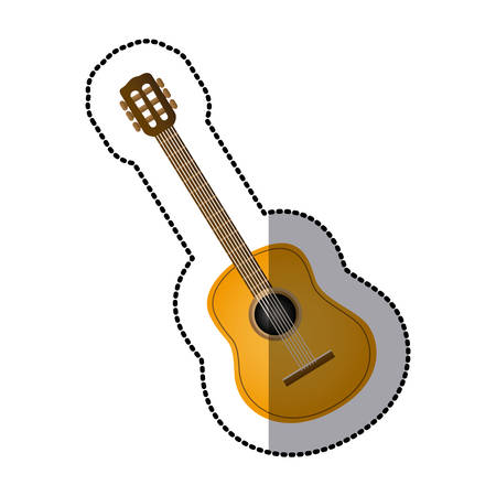 guitar music icon image, vector illustration design