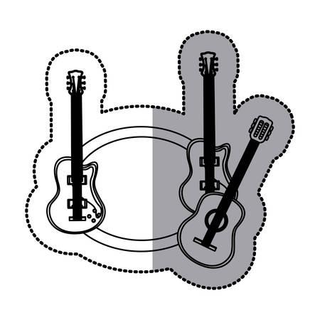 guitar music icon image, vector illustration design