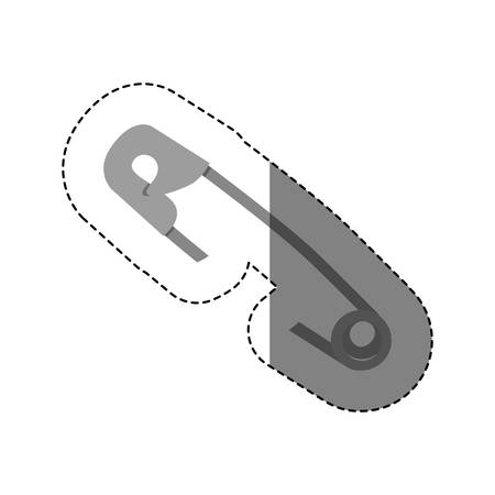 sticker silhouette with grayscale diaper hook vector illustration Illustration