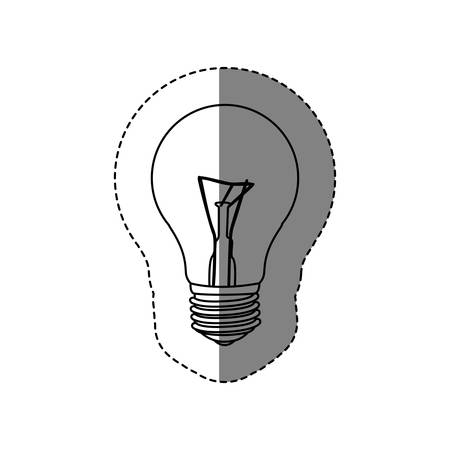 halogen: monochrome contour sticker with silhouette of bulb light vector illustration