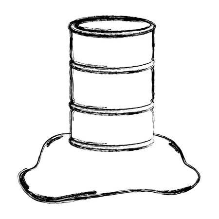 wazig silhouet vat olie gemorst vectorillustratie