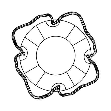 contour lifebuoy icon image, vector illustration design