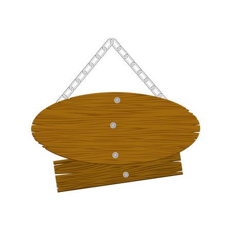 brown wood sign icon image, vector illustration design