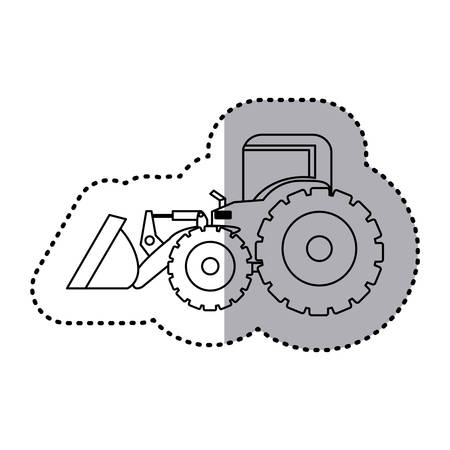 figure backhoe loader icon, vector illustration image design