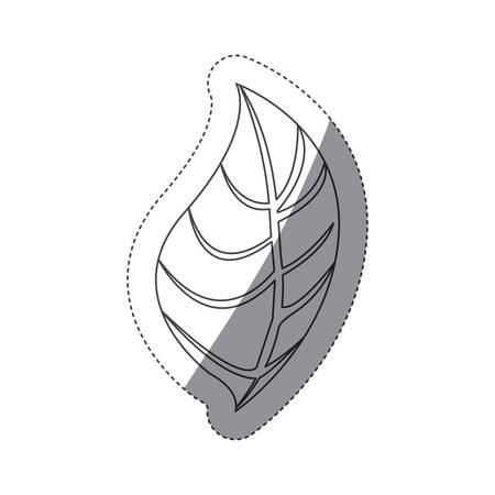 figura hoja de icono de la planta, imagen de diseño de ilustración vectorial Ilustración de vector