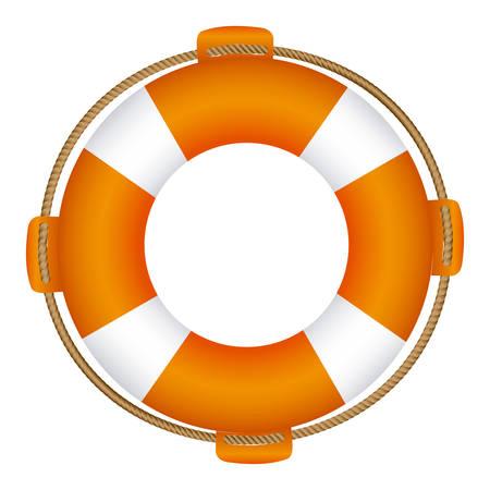 flotation: colorful flotation hoop with rope vector illustration
