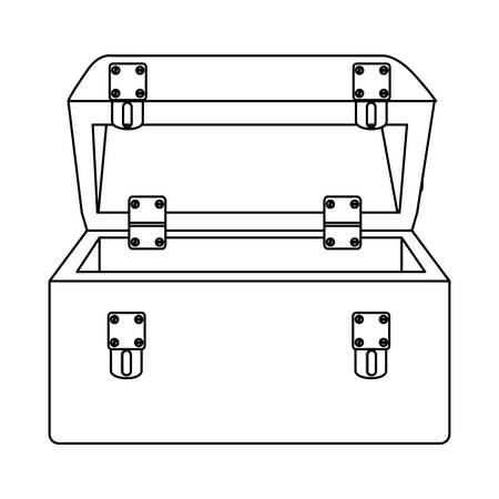 roller blade: sketch silhouette tool box icon vector illustration Illustration