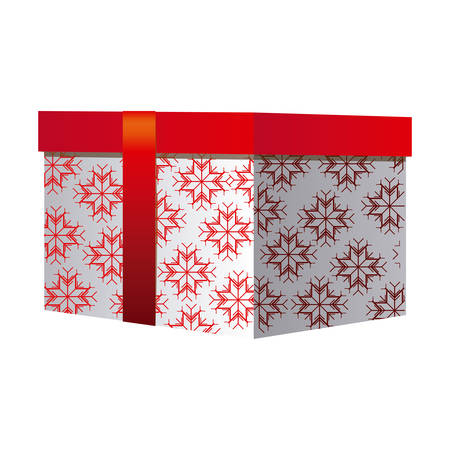 red gift box: box gift christmas decorative with red ribbon vector illustration