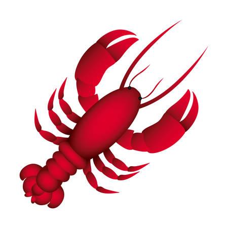 red lobster icon image, vector illustraction design Ilustração