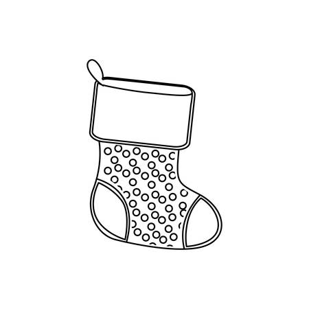 sihouette: sihouette christmas boots icon, vector illustraction design image