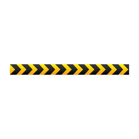 yellow warning ribbon signal, vector illustraction design image Illustration