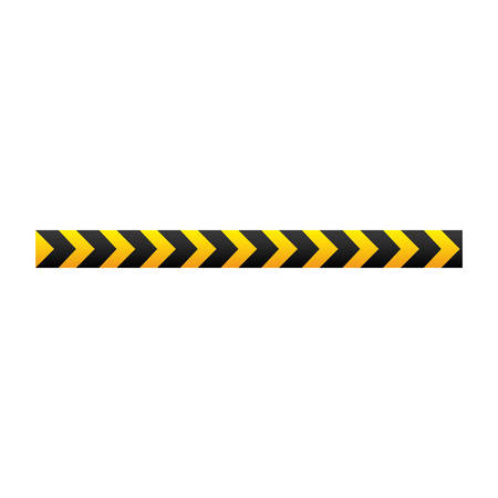 dangerous construction: yellow warning ribbon signal, vector illustraction design image Illustration