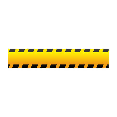 cordon: yellow caution tape icon, vector illustraction design image