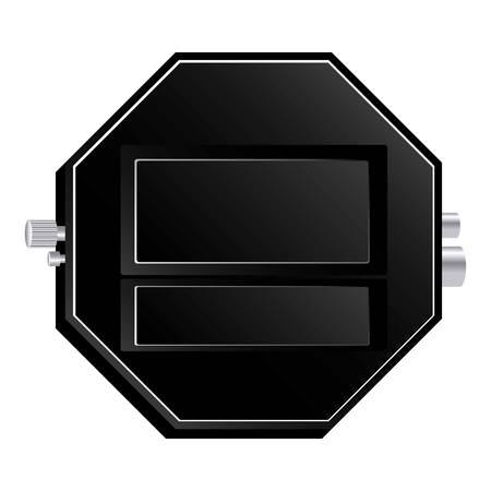 router emblem measuring icon, vector illustraction design image