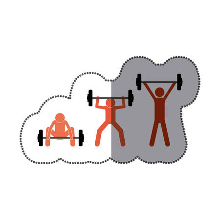 people man lifting weights icon image, vector illustration design Illustration